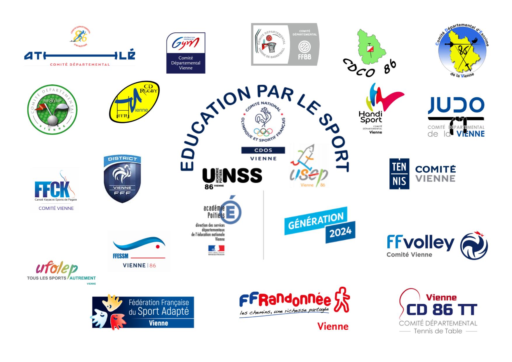 Les 19 comités départementaux sportifs qui s'engagent